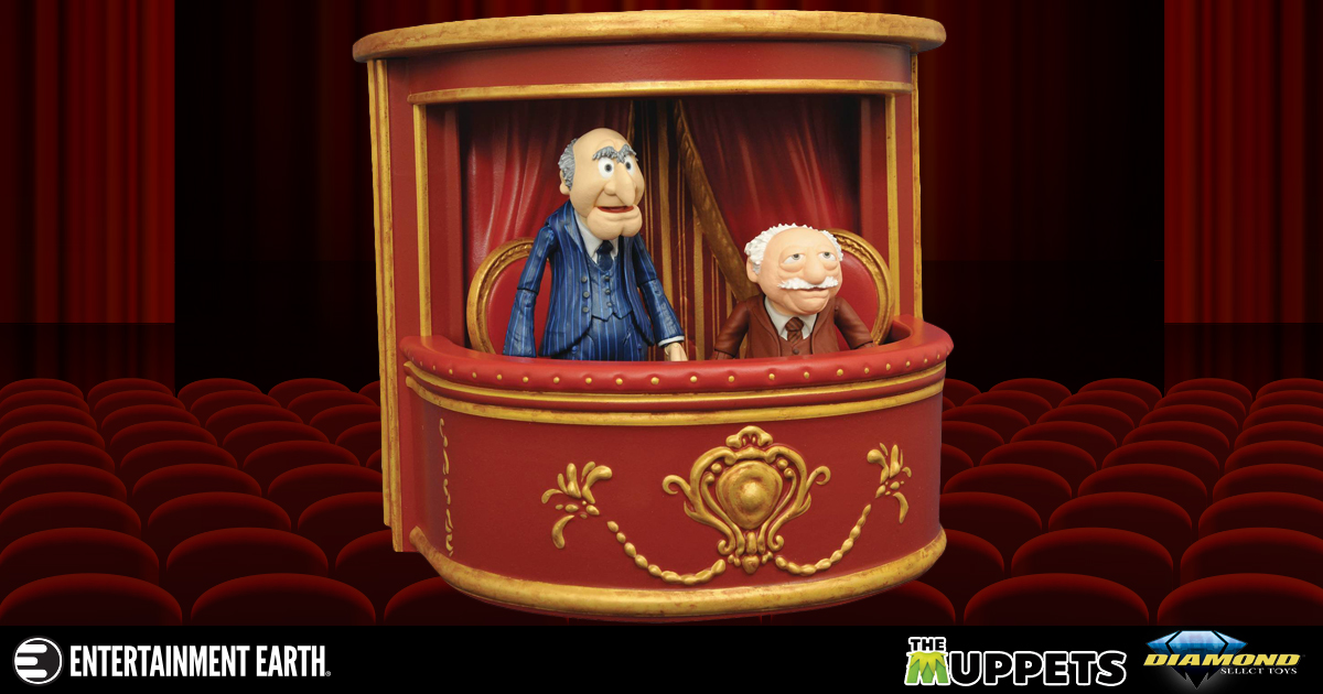 balcony muppets characters Heckle The Muppets With This Statler And Waldorf Two Pack