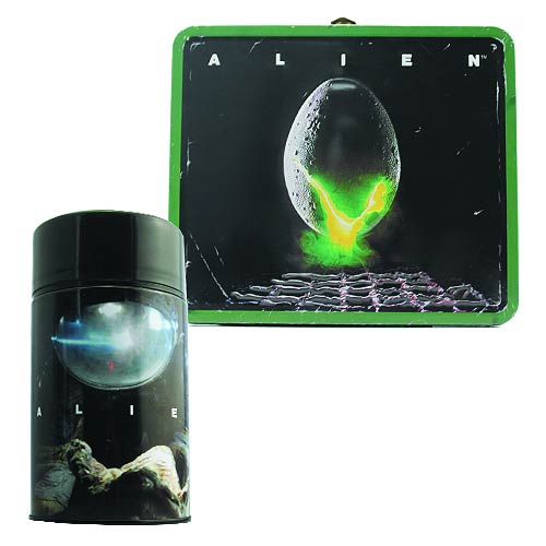 Alien Egg Distressed Lunch Box with Thermos - Previews Exclusive