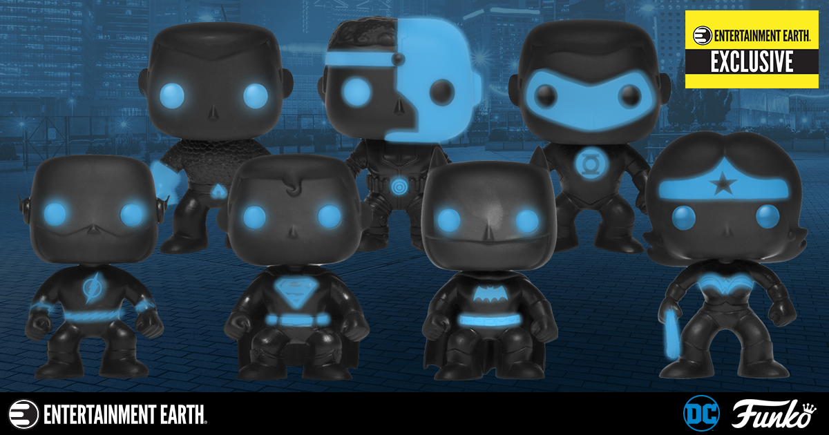 Justice League Glow in the Dark Pops