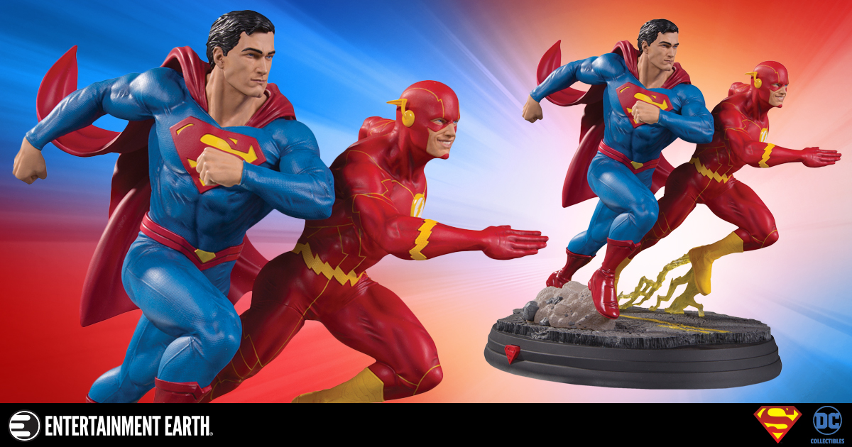 Superman Flash Race Justice League