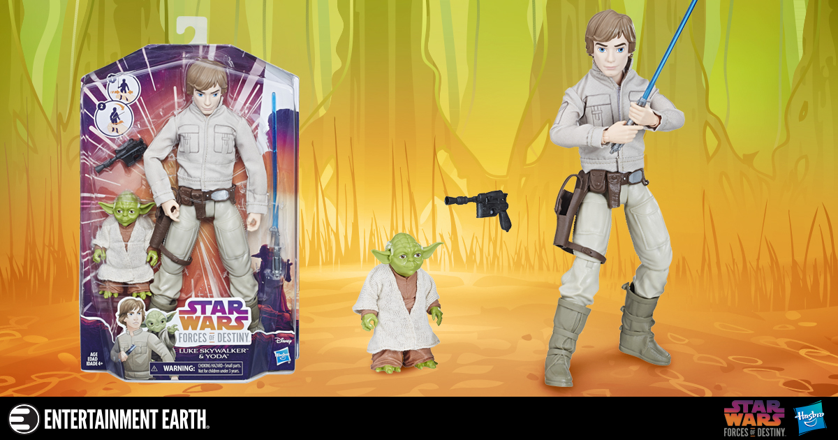 Star Wars Forces of Destiny Luke Skywalker and Yoda Adventure Doll 2-Pack