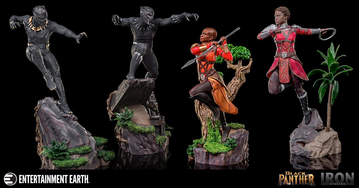 Black Panther Battle Diorama Series 1:10 Scale Statue
