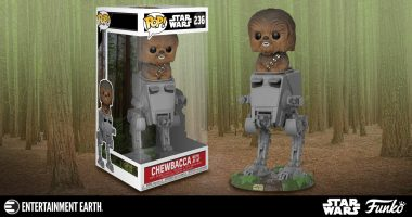 Make Room for This Chewbacca in AT-ST Deluxe Pop! Vinyl Figure on Your Shelf!
