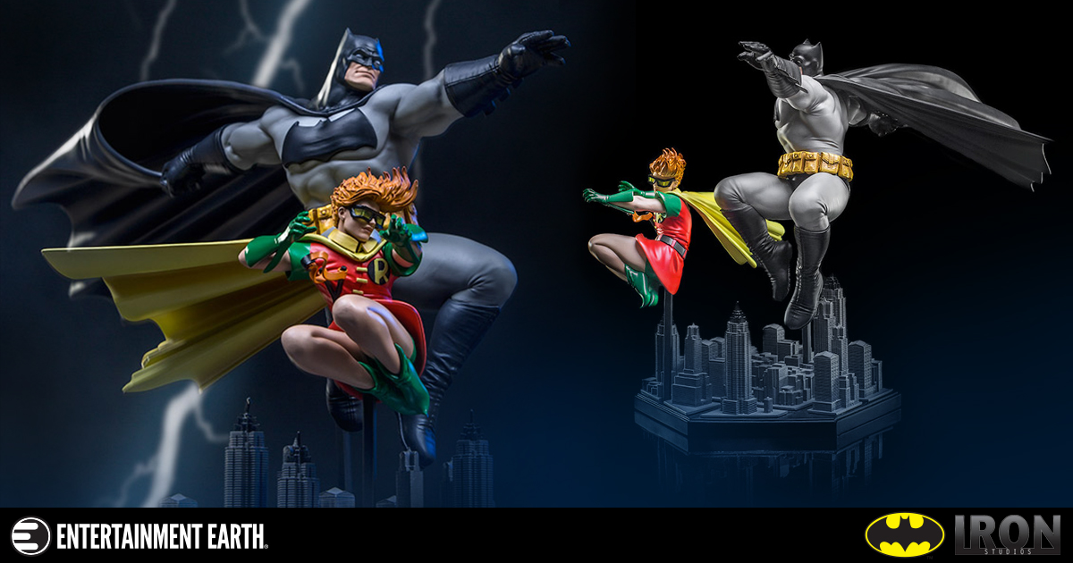 The Dark Knight Returns Batman and Robin Frank Miller Edition 1:10 Scale Deluxe Art Statue