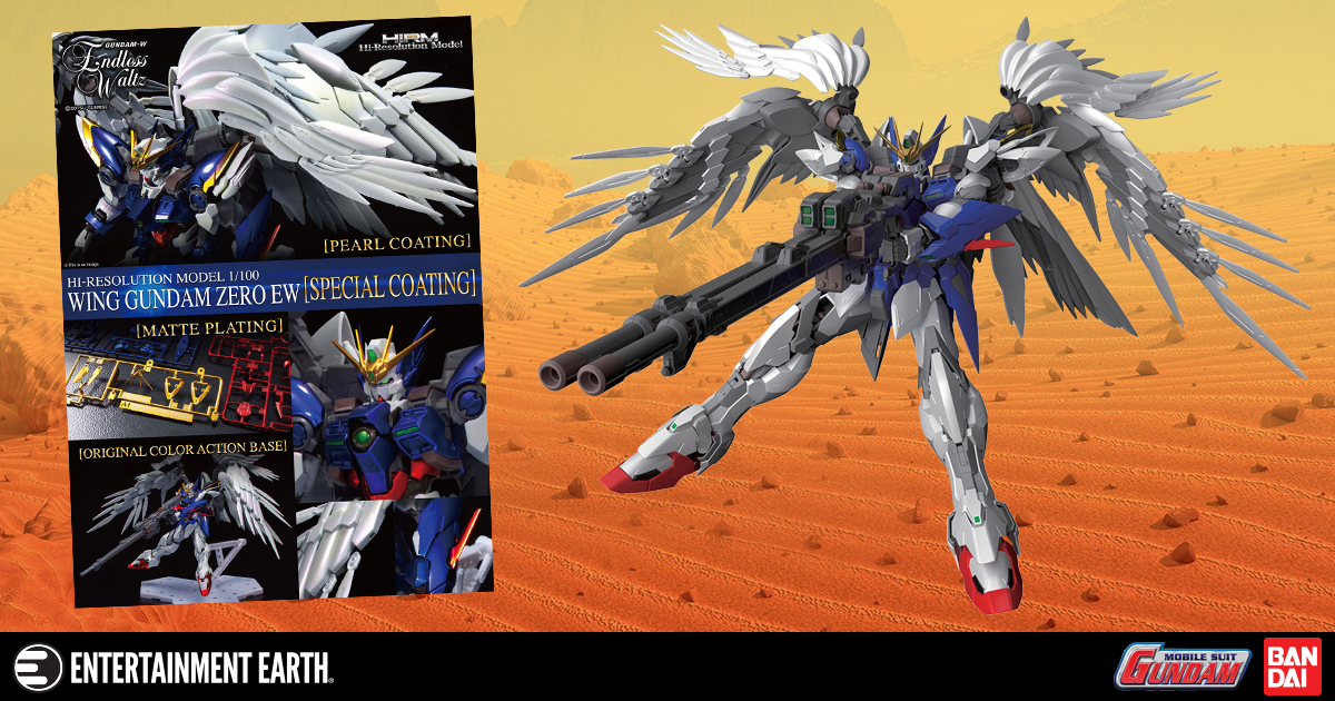 Gundam Wing: Endless Waltz Wing Gundam Zero Plated Coating Hi-Resolution 1:100 Scale Model Kit