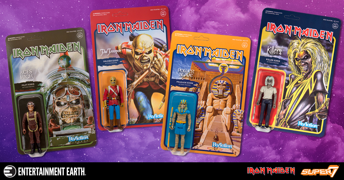 Iron Maiden ReAction Figures Wave 1 Set