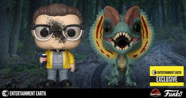 Say the Magic Word and This Entertainment Earth Exclusive Jurassic Park Dennis Nedry and Dilophosaurus 2-Pack Is Yours!