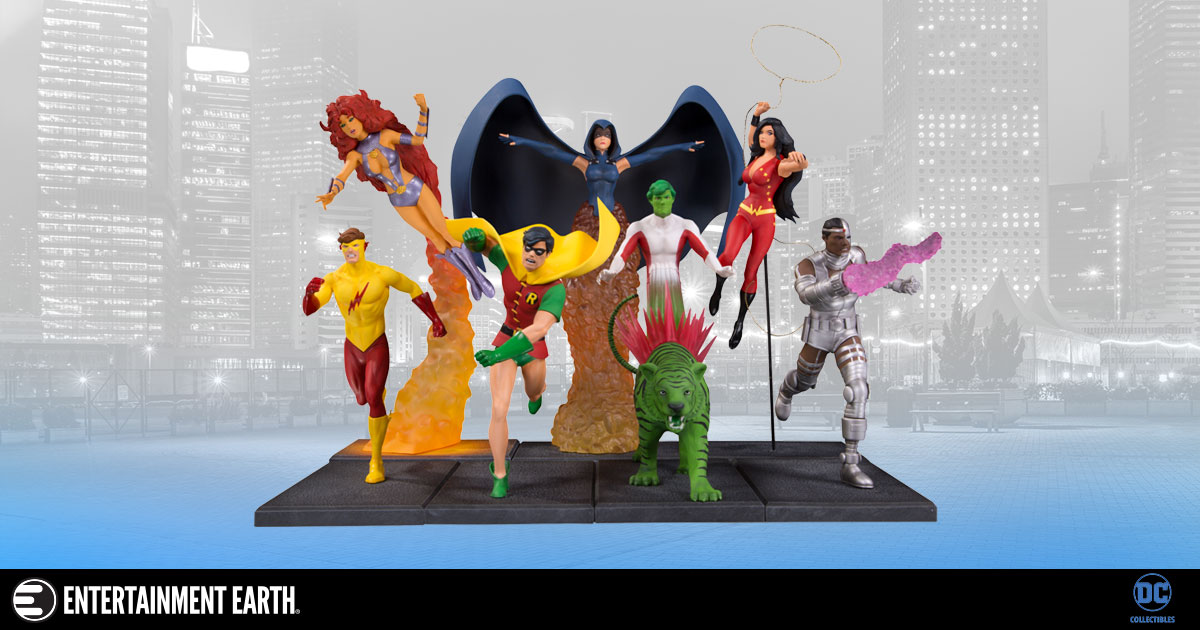 The New Teen Titans Multi-Part Statues