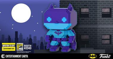 San Diego Comic-Con Exclusive Batman Pop! Brings Back Retro Video Game Style