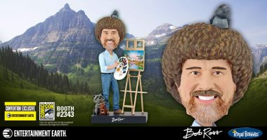 Become a Happy Little Collector with this Bob Ross Bobble Head at San Diego Comic-Con