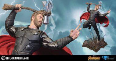 Thor Faces off in This Marvel Movies Milestones Statue