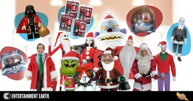 12 Super Suited Santa Action Figures for Christmas