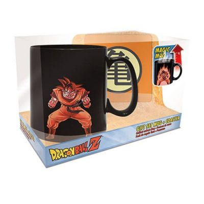 Dragon Ball Z Goku Heat-Change Mug and Coaster Gift Set