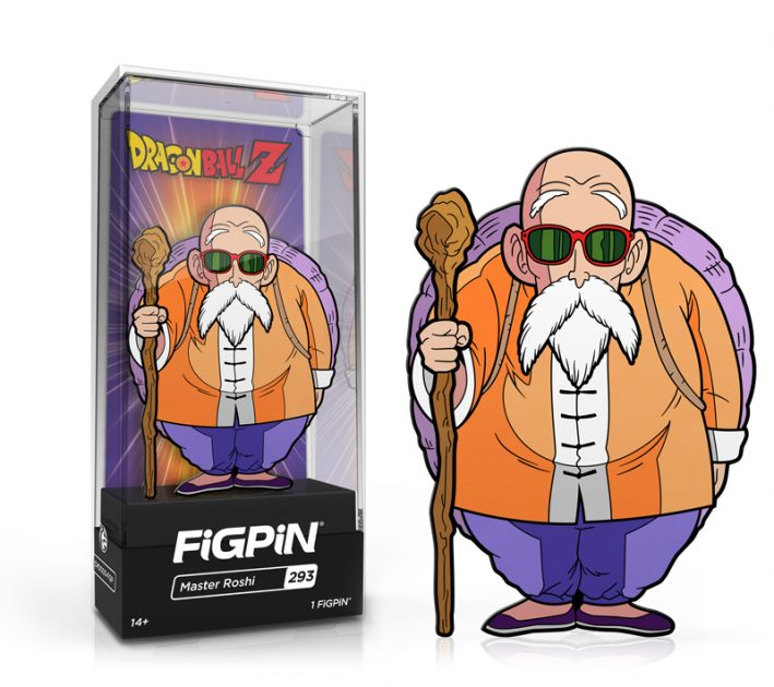 "<a href=""https://www.entertainmentearth.com/product/FG493"">Dragon Ball Z Master Roshi FiGPiN Enamel Pin – NYCC Debut</a>"