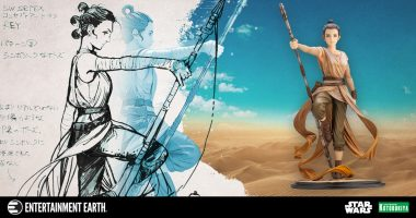 "You'll Want This Rey ""Descendant of Light"" Statue Gracing Your Star Wars Collection"