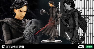 "Bring Kotobukiya's Beautiful Kylo Ren ""Cloaked in Shadow"" Statue into Your Star Wars Collection"