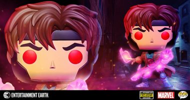 Take a Closer Look at the Glow-In-The-Dark Entertainment Earth Exclusive Gambit Pop!